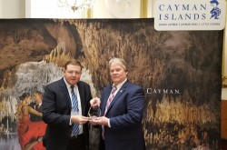 Minister Receives Cayman Airways Caribbean Journal Travelers Choice Award
