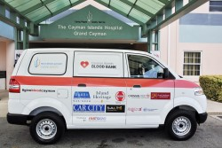 Hurley's Media and Car City present first Cayman Islands Blood Bank van