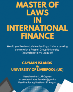 Cayman's Own Master of Laws in International Finance Open