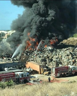 DEH and CIFS Respond to Fire at Vehicle Recycling Plant
