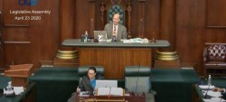 Legislative Assembly Holds Historic Sitting