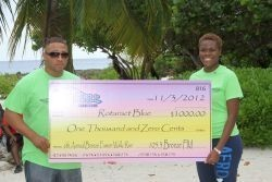 Check Presentation to Rotoract Blue President