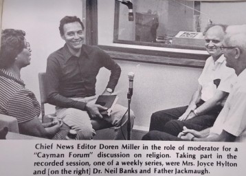 Radio Cayman's Doren Miller and guests
